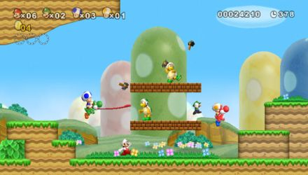 New Super Mario Bros. Wii appealed to casual gamers and old-schoolers alike with its 2D style and 3D visuals.