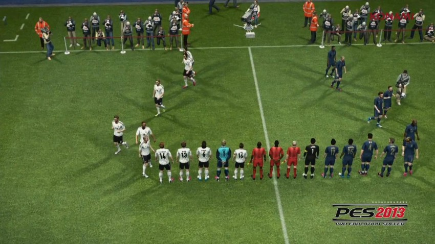PES come to life on the pitch.