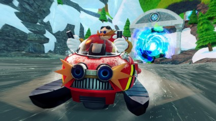 Of course Robotnik/Eggman is here to cause trouble...