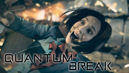 It's not all about COD and FIFA, although I'm not entirely sure what Quantum Break is about. She seems upset about something though...
