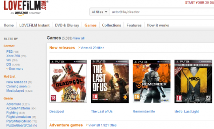 Yes folks, that's 5500 games you won't be ordering through Lovefilm.