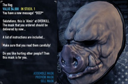 I'm yet to unlock this pig mask. So gutted.