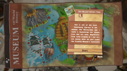 This is the story mode. Don't read what it says. It's all nonsense. In a good way.