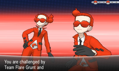 The garish Team Flare are the pain in your butt in X & Y.