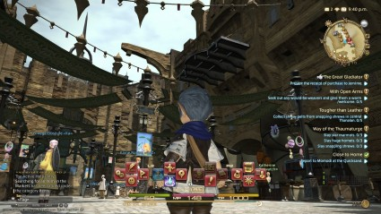 Final Fantasy XIV Busy Screen