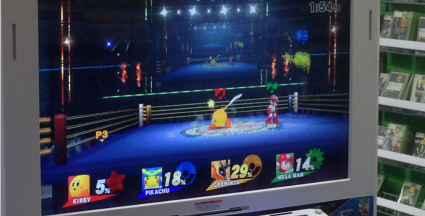 Pikachu v Kirby v Greninja v Mega Man on Boxing Ring