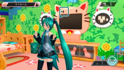 In the Diva Room mode you can interact with Hatsune Miku and decorate the surroundings