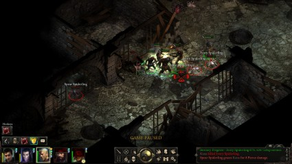 Pillars of Eternity Combat Screenshot