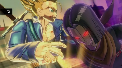 Remember that time that a red-eyed, purple-glowing Android 17 killed Trunks?