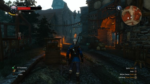 The streets of Novigrad - typically quiet this time of night