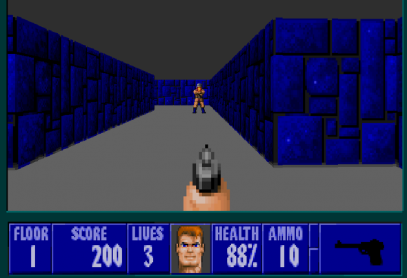 Doesn't look like much, but under this pixel art style hides a competent shooter.