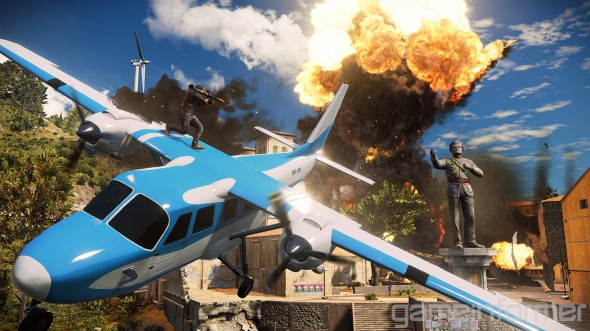 Just Cause 3, bonkers fun! And in keeping with Christmas, not a million miles from a Die Hard sandbox game...